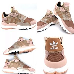 NEW Adidas Rose Gold Nite Jogger Boost Sneakers